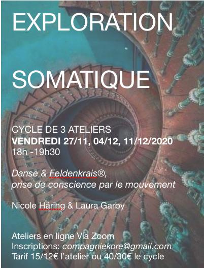 Nov/dec somatique: danse & feldenkrais en 3 ateliers en ligne (nombre limité)